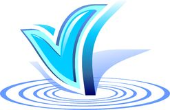 Logo water approved Royalty Free Stock Images