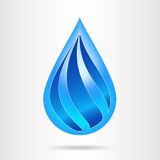 Logo water drop abstract design vector template. Stock Photography