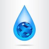 Logo water drop abstract design vector template. Stock Image