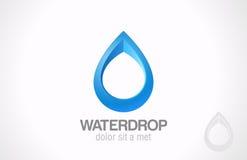 Logo Water droppabstrakt begrepp. Idérik designliten droppe. Royaltyfria Bilder