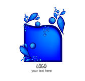 Logo with water drops Stock Image