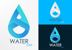Logo water infinity design Stock Photos