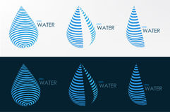 Logo water line three style design vector graphic  Stock Image