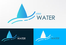 Logo water line wave design vector Stock Photo