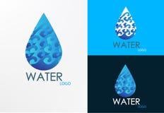 Logo water wave design Stock Photo