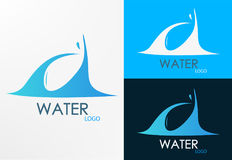 Logo water and wave design Royalty Free Stock Photos