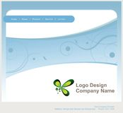Logo and Website Design Royalty Free Stock Photos