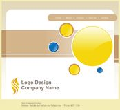 Logo and Website Design Royalty Free Stock Photo