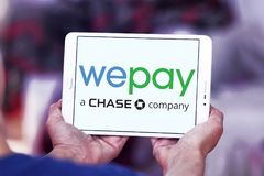 WePay payment system logo. Logo of WePay payment company on samsung tablet. WePay is an online payment service provider based in the United States that provides Stock Photography