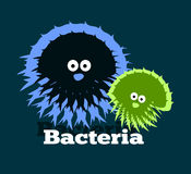 Logo which depicts bacteria. Logo or emblem which depicts bacteria,  illustration Stock Photography
