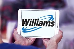 Williams Companies logo. Logo of Williams Companies on samsung tablet . The Williams Companies, Inc. is an energy company, its core business is natural gas Stock Images