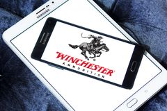 Winchester Arms Company logo. Logo of Winchester Arms Company on samsung mobile. The Winchester Repeating Arms Company is a prominent American maker of repeating Stock Photography