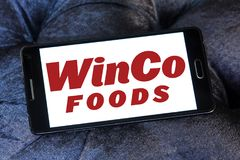 WinCo Foods logo. Logo of WinCo Foods on samsung mobile. WinCo Foods, Inc. is a privately held, majority employee-owned American supermarket chain Royalty Free Stock Photo