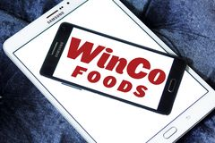 WinCo Foods logo. Logo of WinCo Foods on samsung mobile. WinCo Foods, Inc. is a privately held, majority employee-owned American supermarket chain Stock Images
