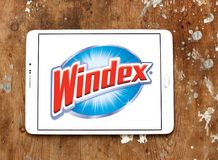 Windex cleaner brand logo. Logo of Windex cleaner brand on samsung tablet. Windex is a glass and hard surface cleaner royalty free stock images