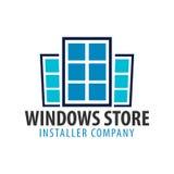Logo Windows store. Installer company. Vector illustration. Royalty Free Stock Photos