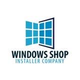 Logo Windows store. Installer company. Vector illustration. Stock Photography