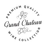 Logo of winery. Logo of the famous winery chateau collection. Vector illustration Stock Photos
