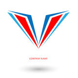 Logo wing aircraft Royalty Free Stock Photos
