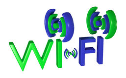Logo wireless data network Stock Photos