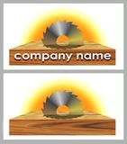 Logo of woodworking company Stock Images