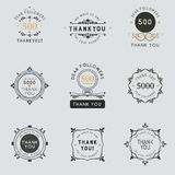 The logo with the words thank you for signs, badge, sticker. Royalty Free Stock Images