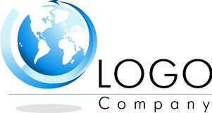 Logo world. Logo and icon of the world, vector file Royalty Free Stock Photography