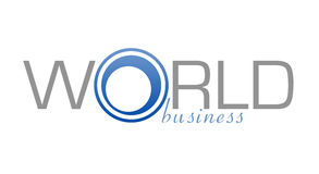 Logo World Business. A logo designed for a world business company Stock Images