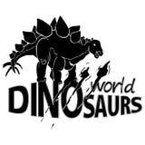 Logo World of Dinosaurs. Vector illustration Stock Photos