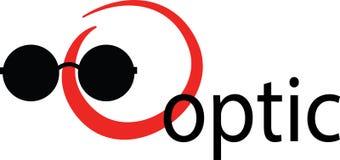 Logo Wzrokowy - szablonu logo dla firmy lub sklepu optcal ilustracji