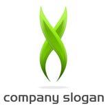 Logo X vert Photo libre de droits