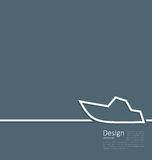 Logo of yacht in minimal flat style line Stock Photos