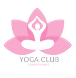 Logo yoga. Eps 10 format Stock Photos
