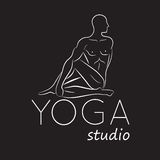 Logo for yoga studio Royalty Free Stock Photo