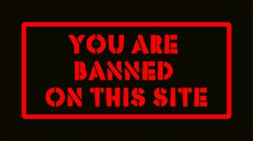 Logo You are banned on this site Stock Image