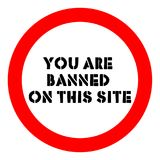 Logo You are banned on this site Royalty Free Stock Images