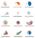Logo for your business in 2013 and 2014. Twelve abstract logo for your corporate identity. Great for entertainment, Television, Radio, Club, Group of Companies stock illustration