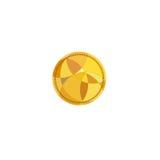 Logo złocista moneta na białym tle Obrazy Stock