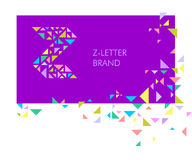 Logo Z de lettre de triangle illustration stock