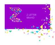 Logo Z della lettera del triangolo illustrazione di stock