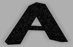 Logo z listem A czarny projekt z gwiazdami royalty ilustracja