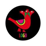 Logo z trzy śpiewackimi ptakami Zdjęcia Stock