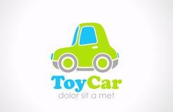 Logo zabawy Zabawkarski samochodowy wektor. Śmieszna mikro maszynowa ikona  Fotografia Stock