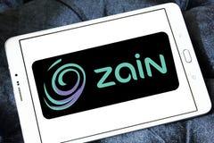 Zain telecommunications company logo. Logo of Zain telecommunications company on samsung tablet. it is a mobile telecommunications company founded in 1983 in Stock Photo