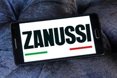 Zanussi company logo. Logo of Zanussi company on samsung mobile. Zanussi is an Italian producer of home appliances that was bought by Electrolux royalty free stock photos