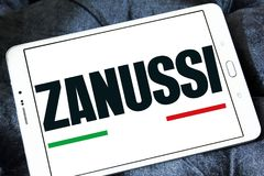 Zanussi company logo. Logo of Zanussi company on samsung tablet . Zanussi is an Italian producer of home appliances that was bought by Electrolux stock images