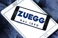 Zuegg company logo. Logo of Zuegg company on samsung mobile. Zuegg is a multinational company based in Verona specialized in fruit processing Royalty Free Stock Image
