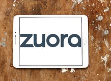 Zuora software company logo. Logo of Zuora company on samsung tablet. Zuora is an enterprise software company that designs and sells SaaS applications for Stock Photos