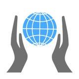 Logoabwehr unser Planet Stockbilder