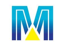 Logobeståndsdelar med pilen - alfabetbokstav M Arkivbilder